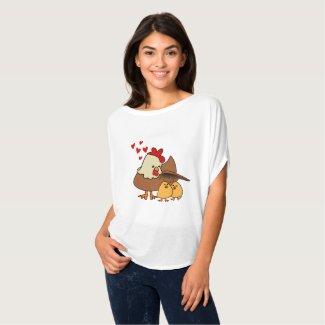 Sous les ailes de maman-poule! T-Shirt