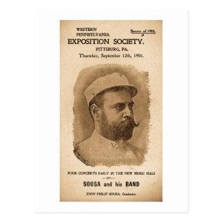 Sousa and his Band 1901 - Vintage Advertisement Postcard
