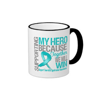Soutenant mon héros - syndrome de Tourette Tasse À Café