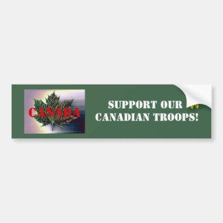 Soutenez nos troupes CANADIENNES ! - Feuille d'éra Autocollant De Voiture