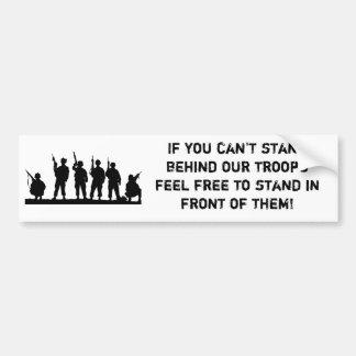 Soutenez notre adhésif pour pare-chocs de troupes autocollant de voiture