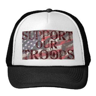 soutenez notre copie de troupes casquettes de camionneur