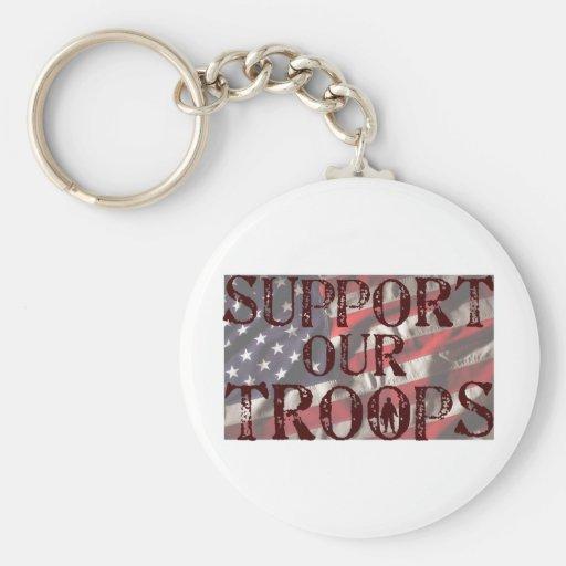 soutenez notre copie de troupes porte-clés