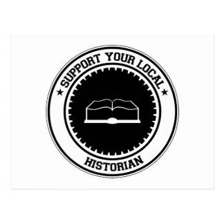 Soutenez votre historien local carte postale