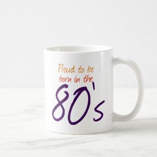 Soutenu pendant les années 80 mug blanc