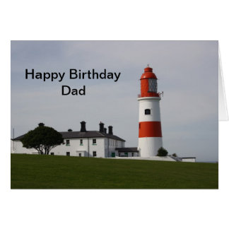 Souter Lighthouse  England  Happy Birthday Dad Card
