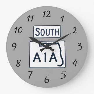South A1A Sign on clock