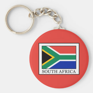 South Africa Basic Round Button Keychain