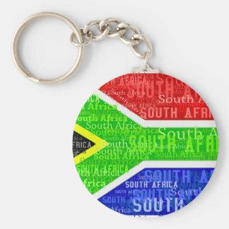 SOUTH AFRICA BASIC ROUND BUTTON KEYCHAIN