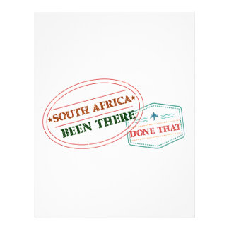 South Africa Been There Done That Letterhead