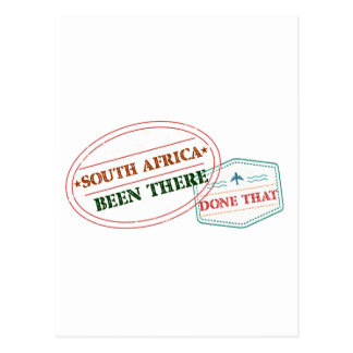 South Africa Been There Done That Postcard