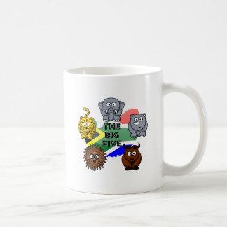 South Africa Big Five Cartoon Illustration Coffee Mug