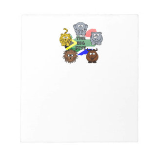 South Africa Big Five Cartoon Illustration Notepads