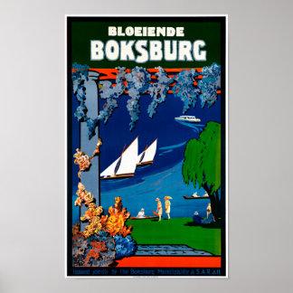 South Africa Boksburg Vintage Travel Poster