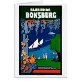 South Africa Boksburg Vintage Travel Poster Card