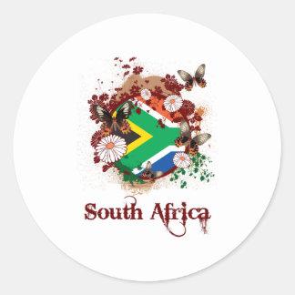 South Africa Butterflies Classic Round Sticker