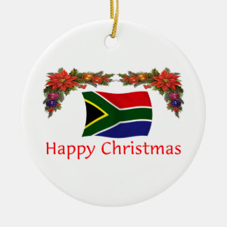South Africa Christmas Ceramic Ornament