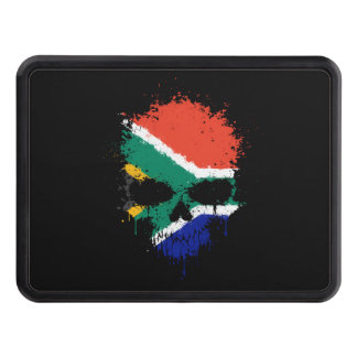 South Africa Dripping Splatter Skull Hitch Cover