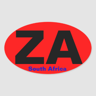 SOUTH AFRICA European-style Oval Sticker