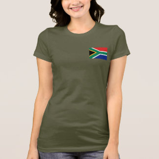 South Africa Flag and Map dk T-Shirt