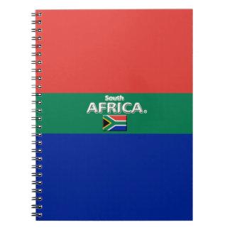 South Africa Flag Colors Designer Modern Notebook