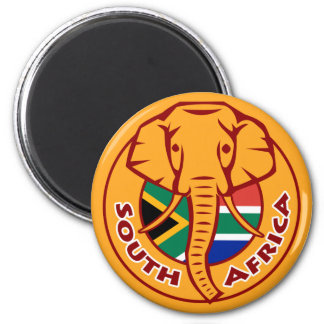 South Africa Flag Elephant Magnet
