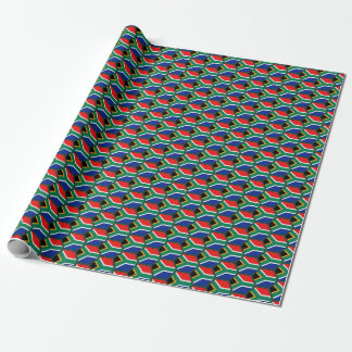 South Africa Flag Honeycomb Wrapping Paper