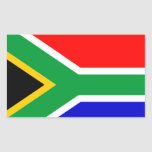 South Africa: Flag of South Africa Rectangular Stickers