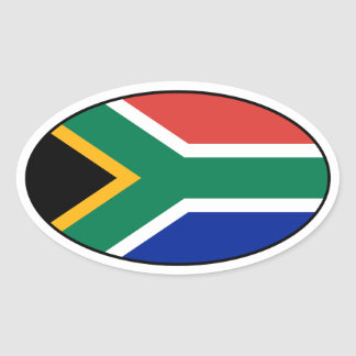 South Africa Flag Oval Sticker