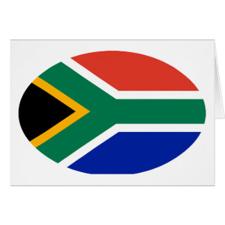 South Africa Flag Oval The MUSEUM Zazzle Gifts Card