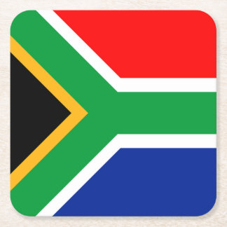 South Africa Flag Square Paper Coaster
