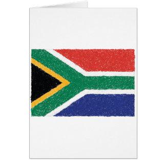 South Africa Flag Theme Card