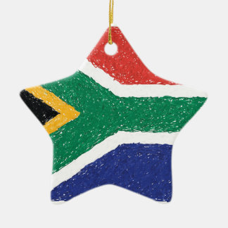 South Africa Flag Theme Ceramic Ornament