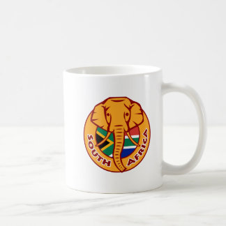 South Africa Flag with Elephant Coffee Mug