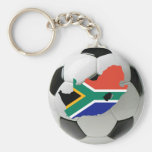 South Africa football Basic Round Button Keychain