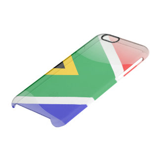South Africa glossy flag Clear iPhone 6/6S Case