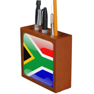 South Africa glossy flag Desk Organizer