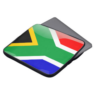 South Africa glossy flag Laptop Computer Sleeves