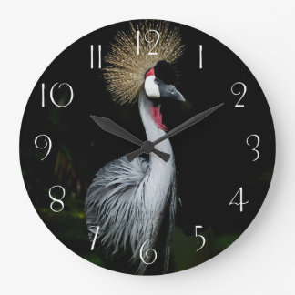 South africa grey crowned crane large clock