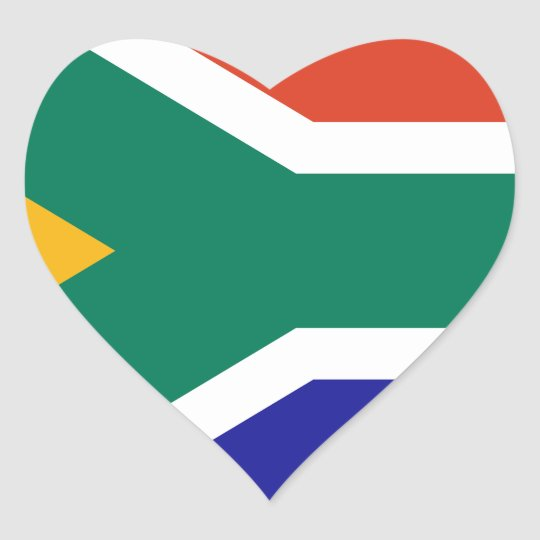 South Africa Heart Sticker