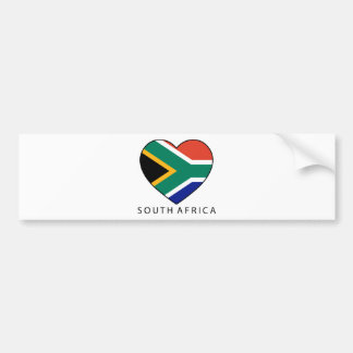 South Africa Heart with black SOUTH AFRICA Bumper Sticker