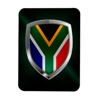 South Africa Metallic Emblem Magnet