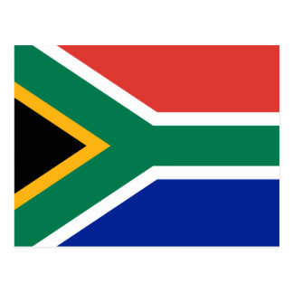 South Africa National World Flag Postcard