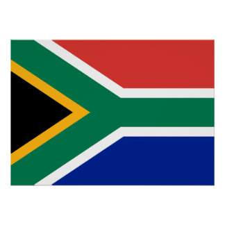 South Africa National World Flag Poster