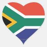 South Africa Plain Flag Heart Sticker