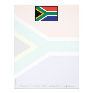 South Africa Plain Flag Letterhead Design