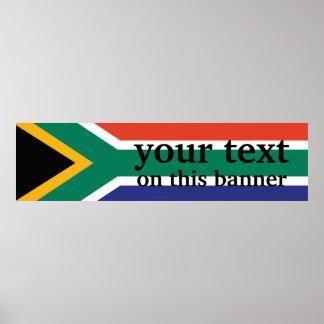 South Africa Plain Flag Poster