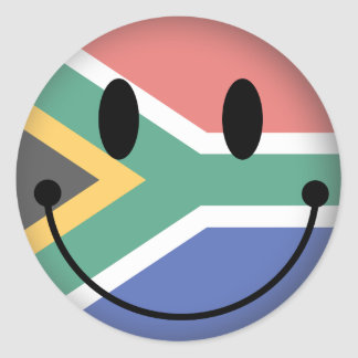 South Africa Smiley Classic Round Sticker