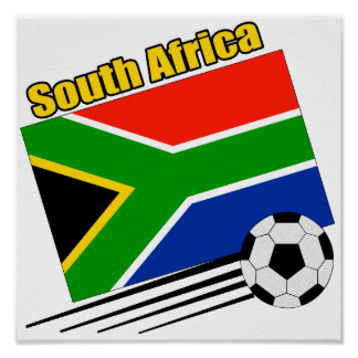 South Africa Soccer Team Poster