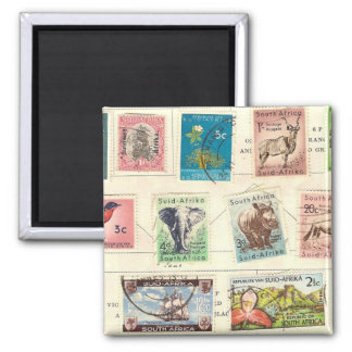 South Africa stamps Square Magnet